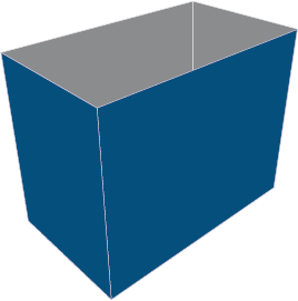 Half Slotted Containers   Custom Boxes